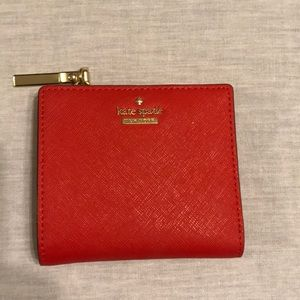 Kate spade Cameron Street red wallet